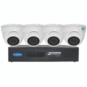 LAN (POE) CCTV Security Kit 2TB Storage with 4x 4/5MP Dome Cameras