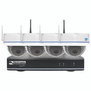Wi-Fi CCTV Security Kit 2TB Storage with 4x 2MP Dome Cameras