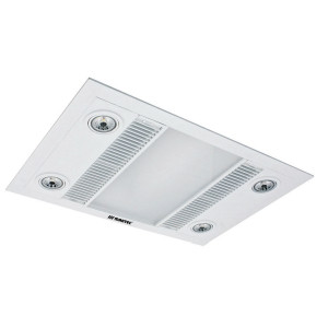 Linear 3-in-1 Heater, Exhaust Fan with LED Light White