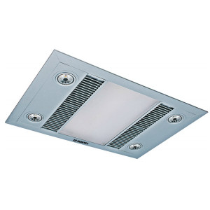 Linear 3-in-1 Heater, Exhaust Fan with LED Light Silver