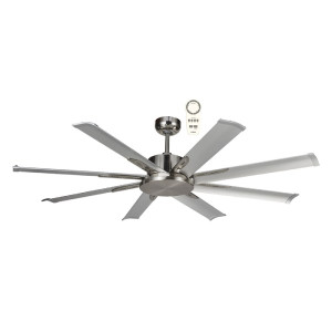 "The Albatross 65"" DC ceiling fan is a powerful and efficient ceiling fan thanks to its 35W brushless DC motor. The ceiling fan is also available in an 84"" (2100mm) and 72"" (1800mm) diameter. This ceiling fan Includes a 5 speed remote control with a timer and reverse function for added convenience."