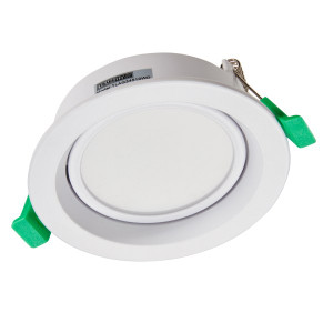 Arte Gimble is a recessed and dimmable downlight that features excellent performance and allows for easy installation. It is ideal for any residential, corridor, reception, retail and office areas. Tricolour allows you to select colour temperature. Fits standard 90mm cutout.