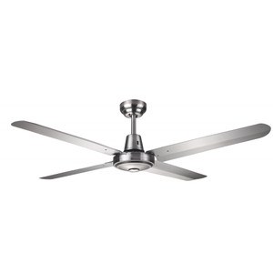 Exterior rated 4 blade 1300mm ceiling fan with full 316 marine grade stainless steel construction. Suitable for coastal and outdoor area.
