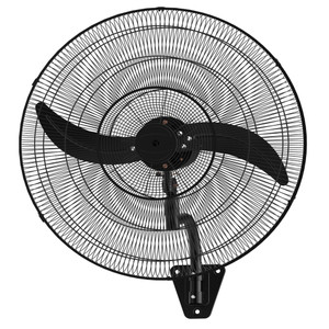 75cm Oscillating wall fan with matt black grill and two matt black aluminium blades.