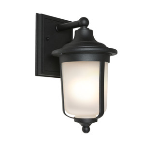 Clean, Crisp and Smart Looking Classic Exterior Wall Light with Frosted Glass and Bronze Aluminium Finish.