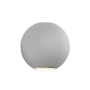 Modern Round Energy Saving LED Exterior Up/Down Wall Light. Includes 2 x 3W Integrated LED Lights to Provide a Subtle Luminance to Your Outdoor Areas.