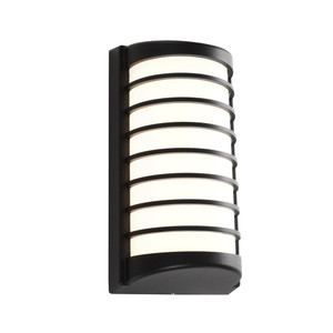 Tacoma LED Exterior Wall Light with Opal Acrylic Lens and Black Finish. Includes 10W LED with IP54 Direct Outdoor Weather Exposure Rating.