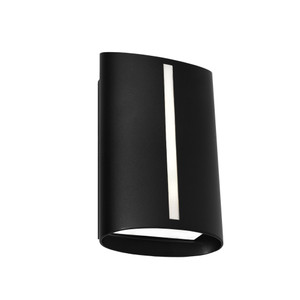 Temma LED Exterior Wall Light with Opal Acrylic Lens and Black Finish. Includes 8W LED with IP44 Indoor/Outdoor Under Cover Area Rating.