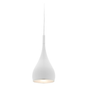 Modern and Stylish Teardrop Pendant. Ideal over Kitchen Benchtops, Kitchen Areas and Living Rooms. Features Modern Design with Height Adjustable Cable.