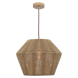 Cassie is a Large Natural Thread Pendant with Brown Cloth Adjustable Cable and Timber Look Canopy. Ideal for Living and Entertaining Areas, the Cassie will add a Modern and Contemporary Statement to Any Room.