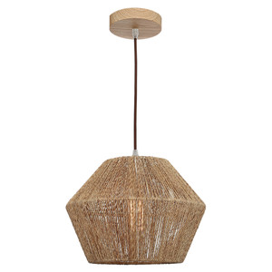 Cassie is a Small Natural Thread Pendant with Brown Cloth Adjustable Cable and Timber Look Canopy. Ideal for Living and Entertaining Areas, the Cassie will add a Modern and Contemporary Statement to Any Room.