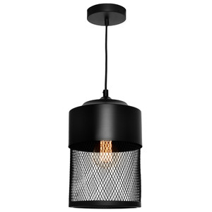 Modern and Industrial Steel Mesh Pendant with Stunning Black Finisih. Ideal for Kitchens and Dining Areas. Made from High Grade Powder Coated Steel with Long Adjustable Cable.