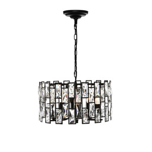 Porsha is an Elegant and Classy Black 5 Light Crystal Pendant Sure to Add Glamour and Style to Any Room.