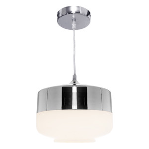 Turner is a Smart Modern 1 Light Pendant with Chrome Top and Canopy with Matt Opal Glass. Compatible with LED Globes, the Turner is Perfect for Over Kitchen Islands, Dining Tables or in Living Areas and Bedrooms.