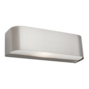 1 Light Satin Chrome Up/Down Wall Light with Frosted Glass. A Modern and Contemporary Fitting, the Benson is Stylish with a Sleek Steel Finish. Perfect for Bedrooms, Hallways and Living Areas.