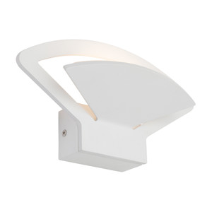 An Attractive Fan Shaped LED Wall Light with Frost Acrylic Lens and Dedicated 6W LED. Perfect for Dining Rooms, Living Areas and  Hallways.