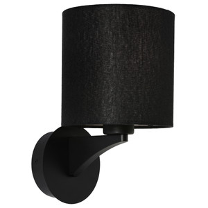 Kirsten is a Traditional Interior Wall Light with Black Steel Back Plate, Aluminium Arm and a Black Linen Shade. Featuring Beautiful Curves and Contours, Kirsten will Suit Bed Sides, Hallways and Living Areas.