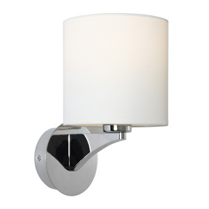 Kirsten is a Traditional Interior Wall Light with Chrome Steel Back Plate, Aluminium Arm and a White Linen Shade. Featuring Beautiful Curves and Contours, Kirsten will Suit Bed Sides, Hallways and Living Areas.