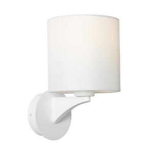Kirsten is a Traditional Interior Wall Light with White Steel Back Plate, Aluminium Arm and a White Linen Shade. Featuring Beautiful Curves and Contours, Kirsten will Suit Bed Sides, Hallways and Living Areas.