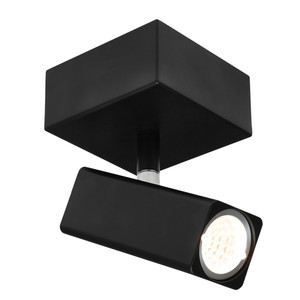 Artemis is a New Modern Rectangular Head Spotlight with Ajustable Knuckles, Steel Back Plate and Aluminium Head. Includes 1 x 5W GU10 LED with Warm White Light Output.
