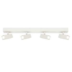 Artemis is a New Modern Rectangular Head Rail Spotlight with Ajustable Knuckles, Steel Back Plate and Aluminium Heads. Includes 4 x 5W GU10 LED with Warm White Light Output.