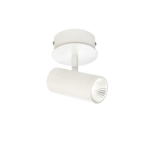 Smart and Modern 1 Light Spot with Classy White Finish, Adjustable Knuckle and 45 Degree Beam Angle. Includes 1 x 5W LED COB.