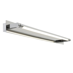 Coral LED Vanity Wall Light is Perfect for Power Rooms, Bathrooms and Vanity Areas. Featuring Chrome Finish with Opal Acrylic Lens and Integrated 16W LED Light.