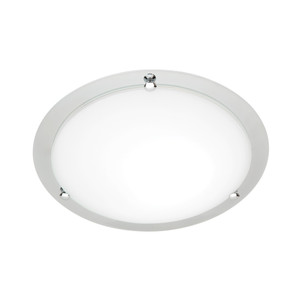 Detroit is a 1 Light Round Oyster with Frosted Glass and Chrome Metal Enclosure. Great for Bedrooms, Living Rooms and Office Areas.