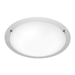 Detroit is a 2 Light Round Oyster with Frosted Glass and Chrome Metal Enclosure. Great for Bedrooms, Living Rooms and Office Areas.