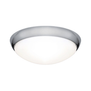 Lancer is a Clean Crisp Dome Shaped LED Oyster with Chrome Finish and Gloss Opal Acrylic Lens. Suitable for Both Indoors in Wet Areas like Bathrooms as well as Outdoors in Covered Areas. Includes 27W Dimmable SMD LED Panel with High Light Output.