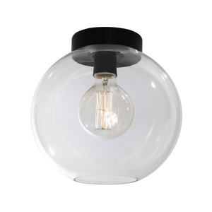 Orpheus is a Modern 1 Light Do-It-Yourself Batten Fix with 25cm Glass Shade and Black Baton Cover. Perfect for Bedrooms, Hallways and Living Areas.