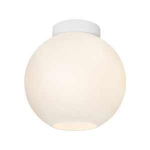 Orpheus is a Modern 1 Light Do-It-Yourself Batten Fix with 25cm Glass Shade and White Baton Cover. Perfect for Bedrooms, Hallways and Living Areas.