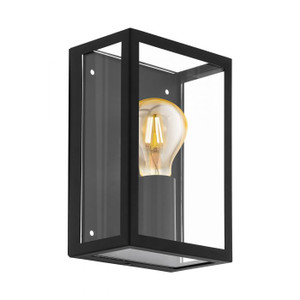 On-trend ALAMONTE 1 - this range from our exterior collection comes in a black finish with clear glass, and pairs perfectly with a vintage LED globe from our accessories range.