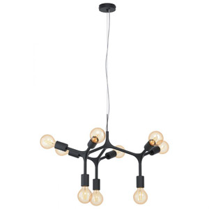 The BOCADELLA series comes in a structured black powder coat finish and makes for a striking statement piece in an industrial feel. Pairs perfectly with vintage LED globes.