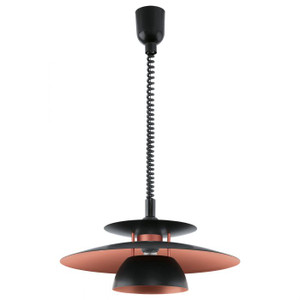 The pull-down feature of the BRENDA pendant series allows you to adjust the height of your light when it suits you. Pull down for close work or rise up for more general illumination in your room.