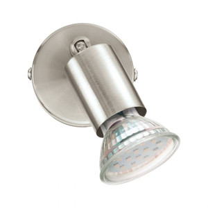 The BUZZ LED is an economical spot range in satin nickel finish and includes 4000K dimmable GU10 lamps.