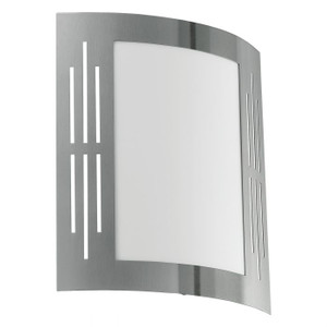 The CITY exterior range features a stainless steel finish for a contemporary look.