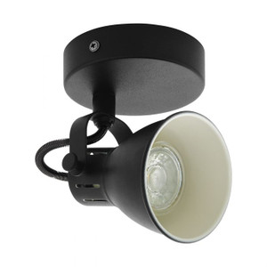 The SERAS 2 series of spots is made of black steel and includes neutral white dimmable GU10 lamps.