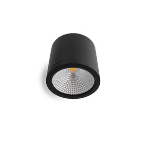 25W LED Downlight Dimmable Surface Mount Black