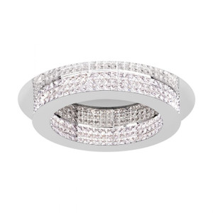 The PRINCIPE close to ceiling range features a chrome plated trim with crystal glass, and a warm white LED light source.