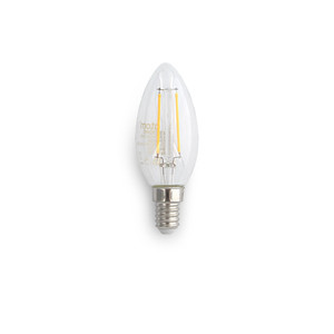 5W C35 LED Filament lamps. Dimmable, Clear lens
