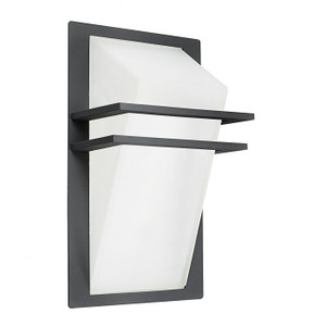 The architectural lines of the PARK exterior wall bracket make a bold statement on the exterior of your home.