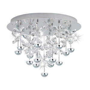 The showstopper - subtly hidden LEDs make the refined glass crystals shine an indirect light and create a sparkling feature for your home.