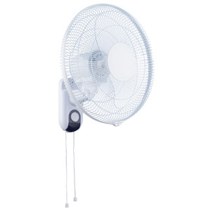 Wide range oscillation. Adjustable fan tilt. Fan control via pull cords. 3 Speeds with Oscillation control. Power cord with plug supplied.