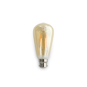 8W ST64 LED Filament lamps. Dimmable, Clear Lens