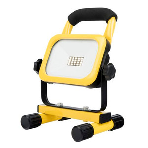 Portable work light, in 10W or 20W Rechargeable Li-ION battery Durable die cast Aluminium housing Battery power indicator Dimmable light output IP44 weather resistant Charging time: 4-5 hours Working time 2.5 hours Includes: 12V DC, Car Charger 240V AC SAA Approved Charger.