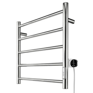 Our heated towel rail is all about comfort, whilst creating a modern and contemporary looking bathroom. They provide practical function and compact design offering space in even the most compact of rooms. 2 or 4 Hour Timer • 5 Bar Towel Rail. All fixing accessories included. Easily installed into new or existing homes.