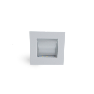 2W LED Square Recessed Step Light White
