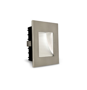 2W LED Square Recessed Step Light Satin Chrome