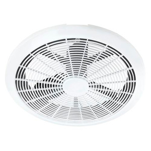 EcoFlow round ceiling exhaust fan combines a low wattage energy efficient motor and a superior blade angle for optimal air & steam extraction. Compact, low profile design. It can be DIY installed as it is fitted with an Australian approved plug and lead. The Ecoflow has a powerful low wattage motor that consumes up to 85% less energy.